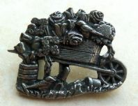 Birds And Blooms Pewter Gardening Brooch
